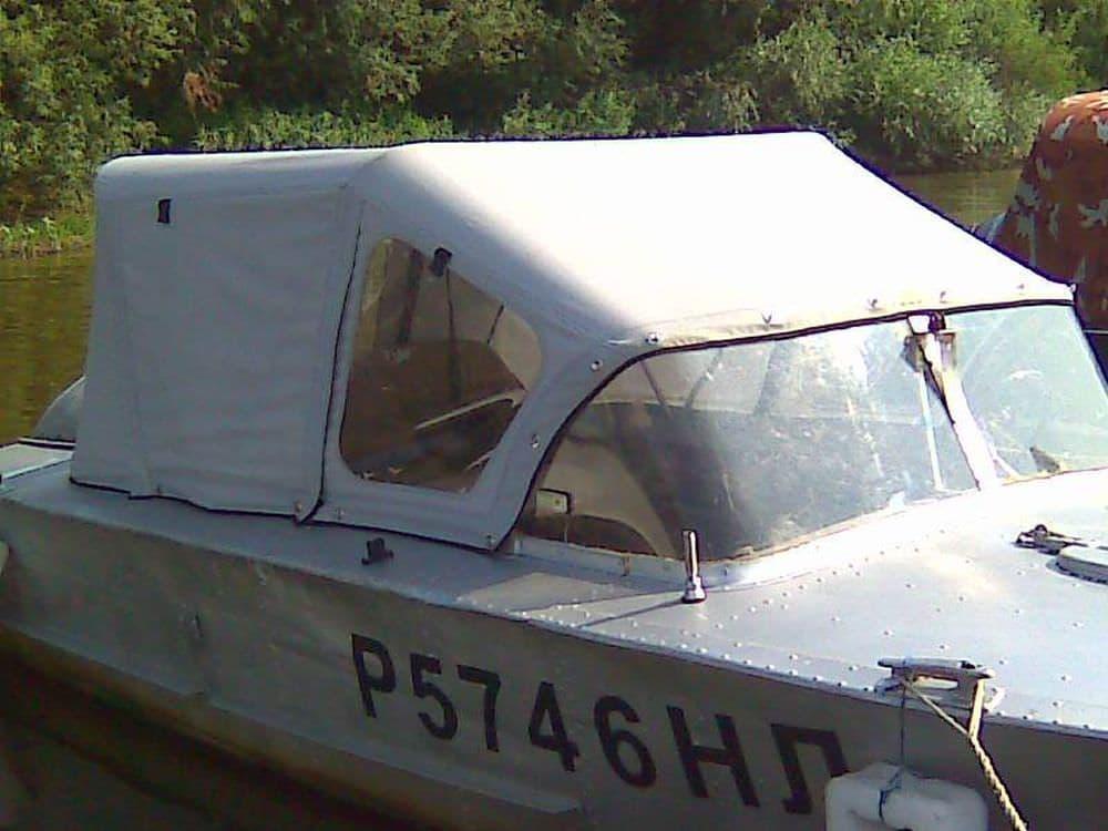 Лодочный ходовой тент без клапана для выхода нос лодки