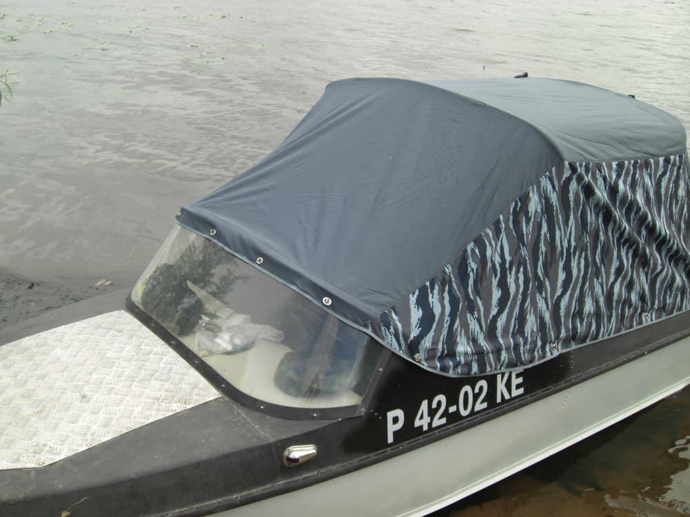 Ходовой тент бех клапана на носовую палубу лодки