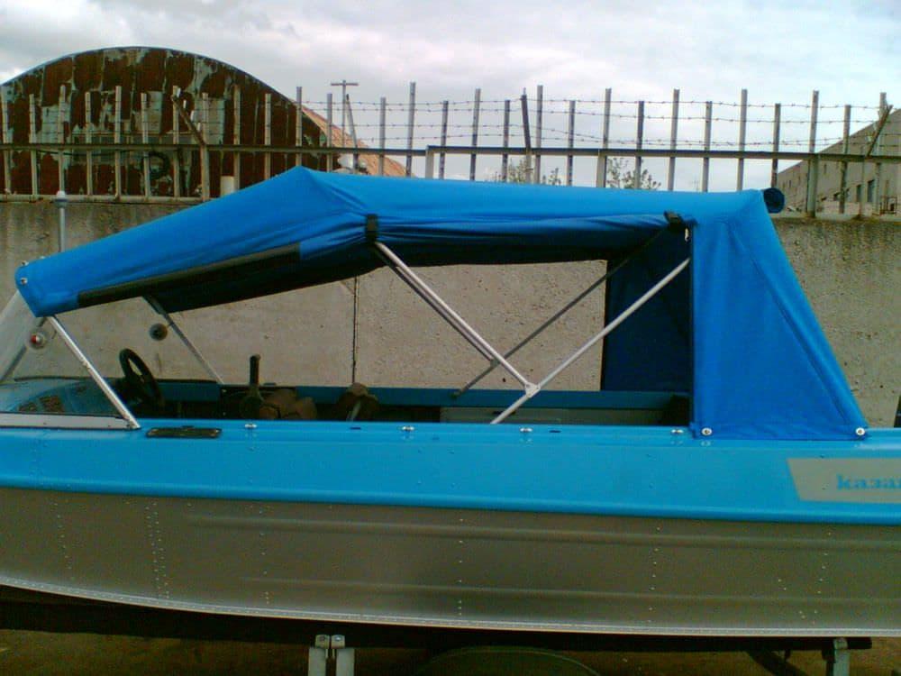 Тент для лодки казанка м своими руками