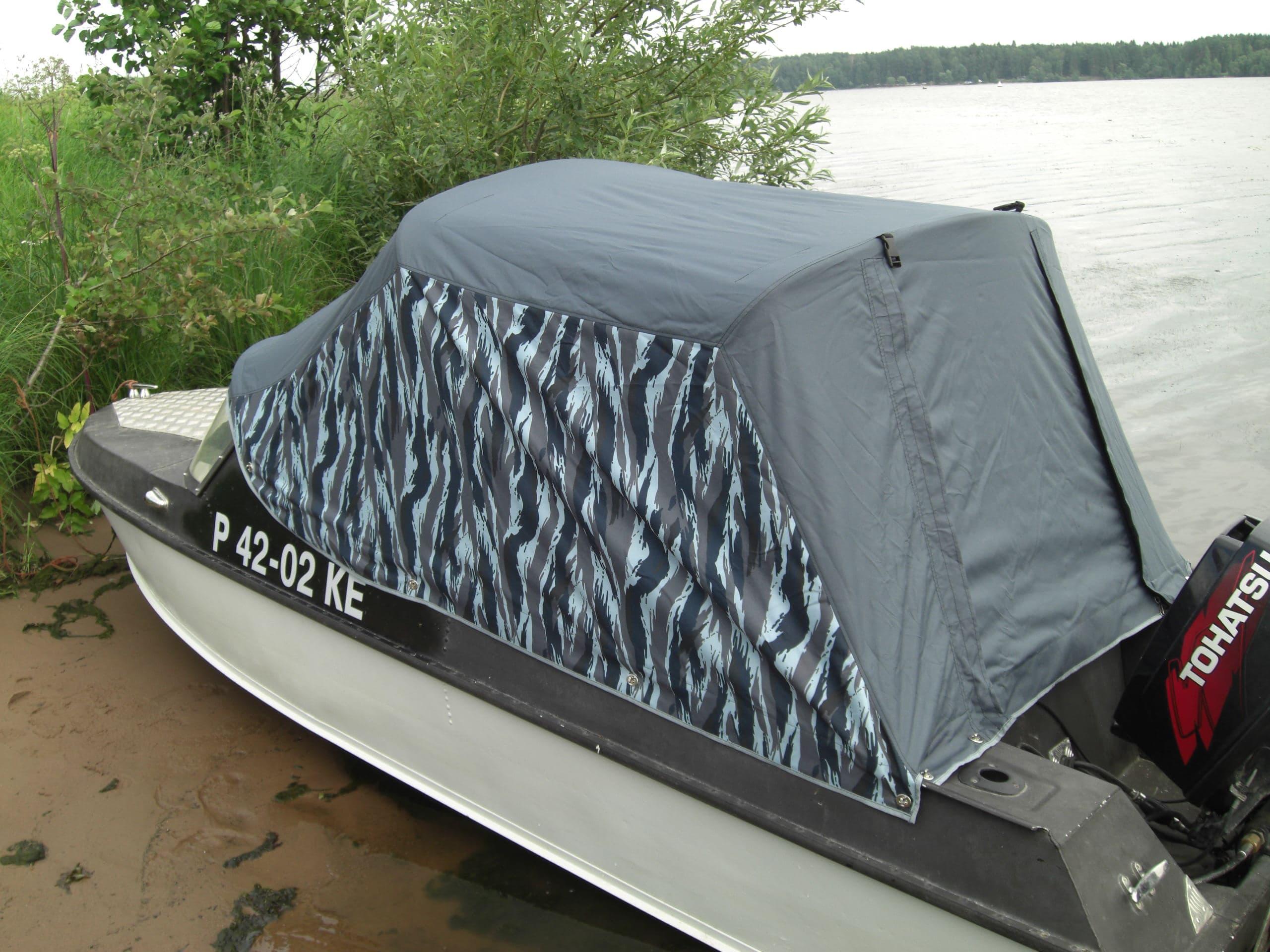 Тент на лодку без окон