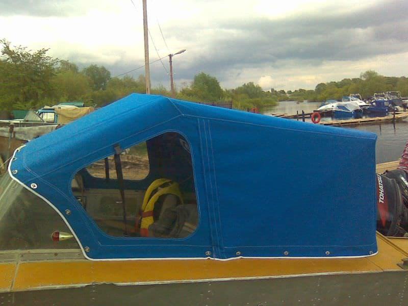 Тент для лодки с окнами