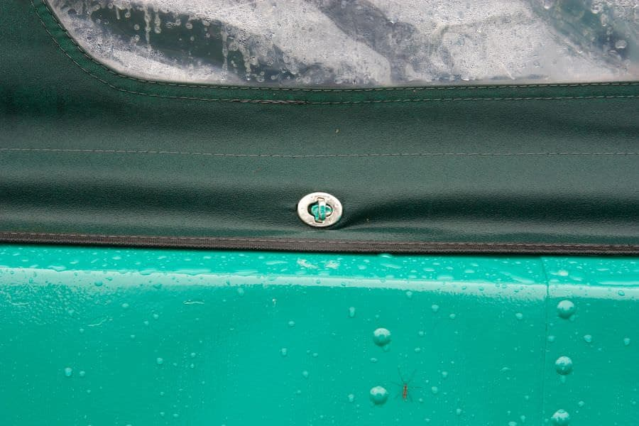 Поворотная застежка лодочного тента